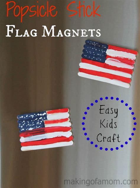 flag craft for popsicle stick flag magnets easy craft