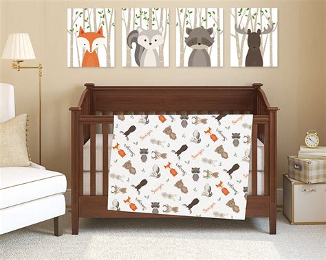 woodland creatures crib bedding woodland animals baby bedding www imgkid the image