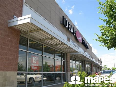 Metal Canopy by Retail Gallery Mapes Canopies Aluminum Canopies