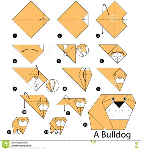 how to make a origami cheetah step by step step by step how to make origami a bulldog