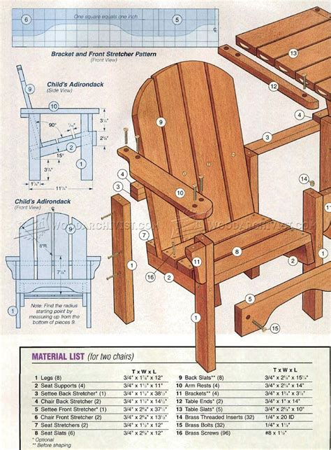 What Is An Adirondack Chair by Childrens Adirondack Chair Plans Woodarchivist