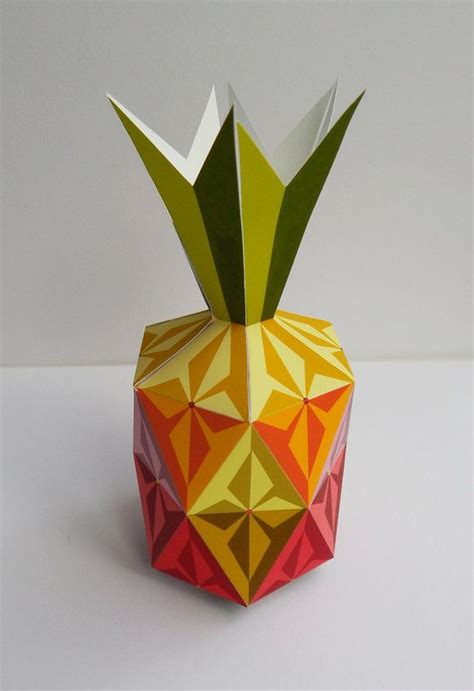 paper pineapple craft this pineapple how colorful printable paper