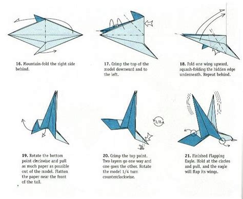 how to make a origami with wings bird flaps its wings