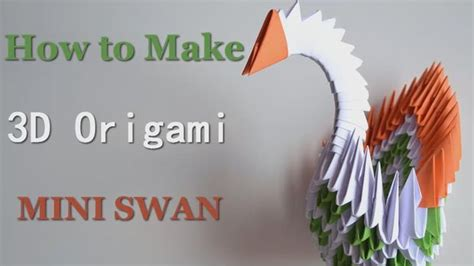 how to make a 3d origami swan modular 3d origami swan master of