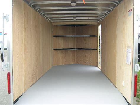 enclosed trailer shelves v nose enclosed trailer cabinets