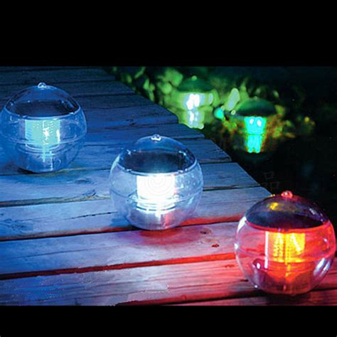 water led lights solar powered floating led light water swimming pool
