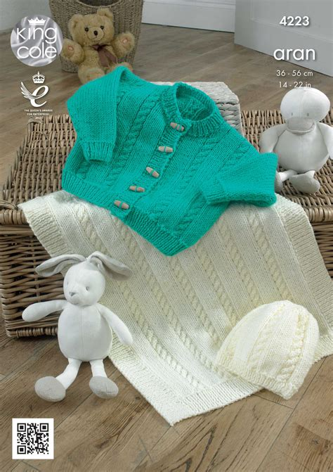 baby aran knitting patterns uk baby knitting pattern king cole blanket cardigan and hat