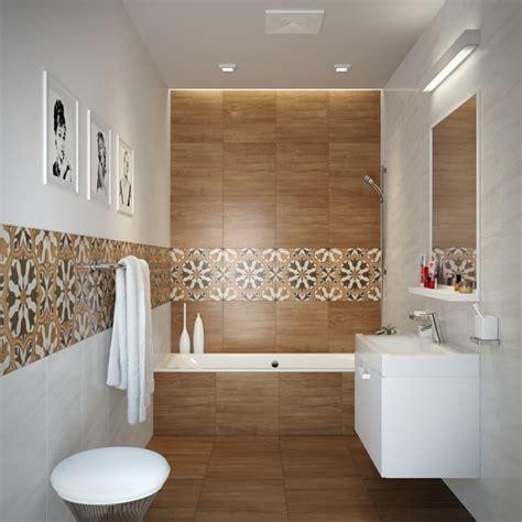 carrelage salle de bain imitation bois 32 id 233 es modernes effet optique repris et carrelage