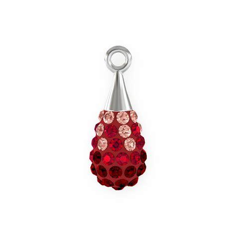 swarovski jewelry supplies swarovski 14mm siam rhodium plated pav 233 drop pendant 1 pc