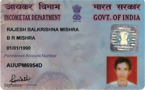 make pan card india rajesh balkrishna mishra rajesh pan card