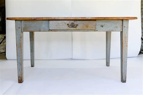 rustic writing desk rustic painted farm table or writing desk with drawer at