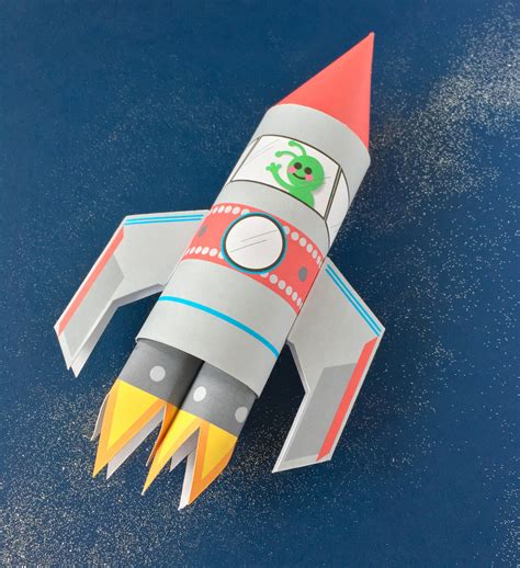 rocket craft for space rocket toilet craft printable