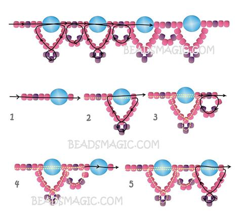 2 bead patterns free pattern for beaded necklace silver moon magic