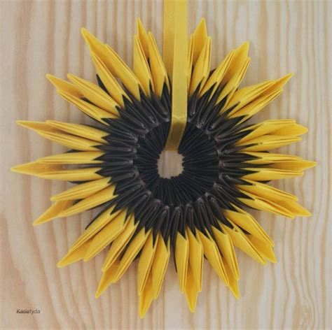 origami sunflower step by step origami sunflower sunflowers origami and