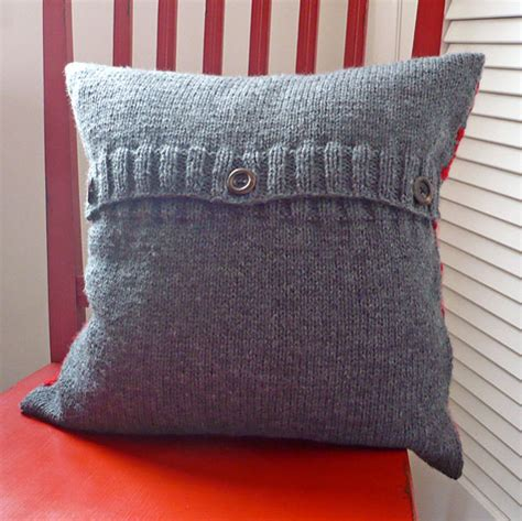 knitted pillow cover pattern free buss berroco