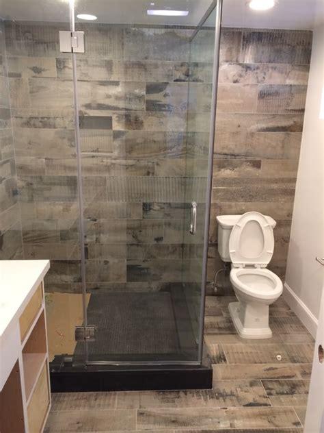 bathroom looks reclaimed wood look bathroom shower