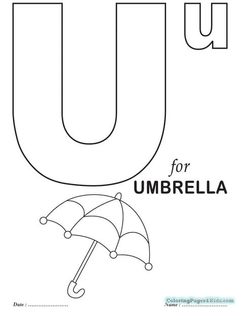 Free Printable Letter U Coloring Pages   Coloring Pages ... U Coloring Page
