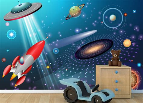 outer space wall mural grafix wall