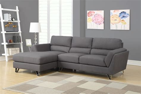 charcoal gray sectional sofa charcoal gray linen sofa sectional from monarch 8210cg
