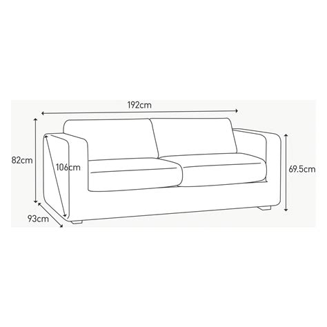 3 seat sofa dimensions porto charcoal fabric 3 seater sofa bed buy now at