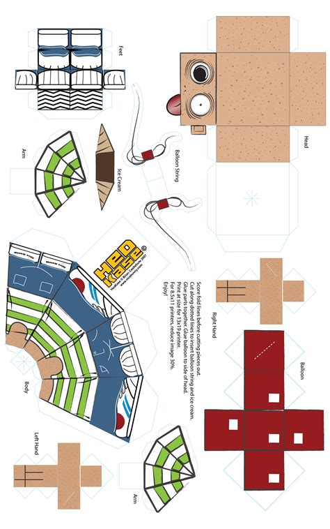 paper craft templates free 5 best images of free printable papercraft templates