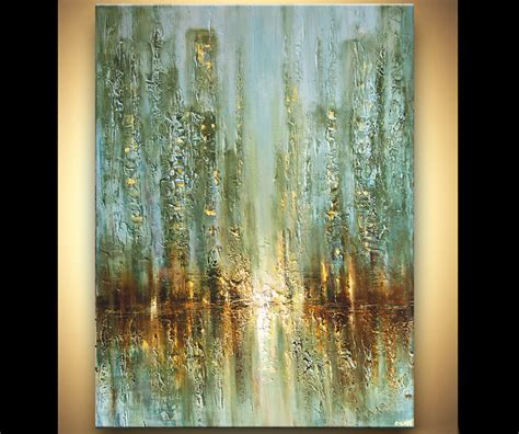 acrylic painting palette knife modern contemporary palette knife abstract city painting