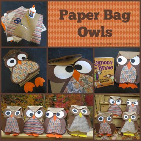 paper bag owl craft paper bag owls