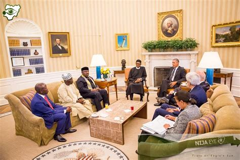 inside the oval office photo news buhari and his delegation inside the oval