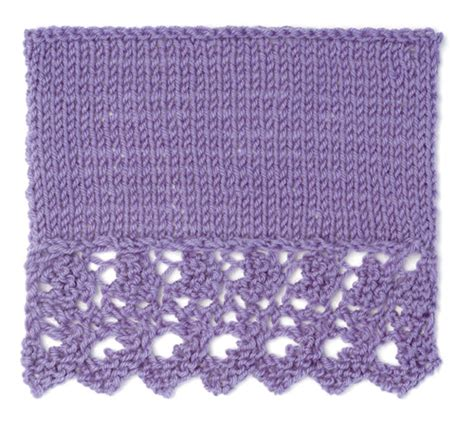 sk2p knitting acorn lace