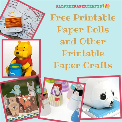free printable paper crafts 29 free printable paper dolls and other printable paper
