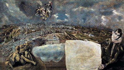 Vista Y Plano De Toledo De El Greco O Universo Numa