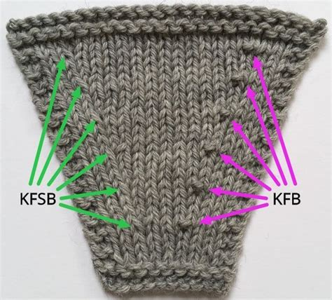 how to knit kfb stitch 25 best ideas about knit stitches on knitting