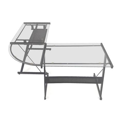 glass l shape desk glass l shaped desk glass lshaped desk in miami modern