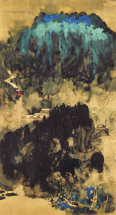 znag painting zhang daqian china 1899 1983 splendour of the peak