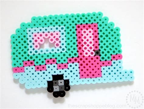 perler directions retro cer keychain and pattern the scrap shoppe