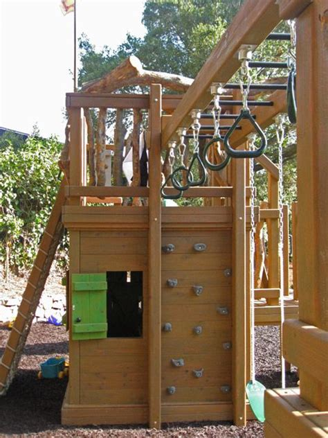 backyard climbing structures best 20 play structures ideas on treehouses