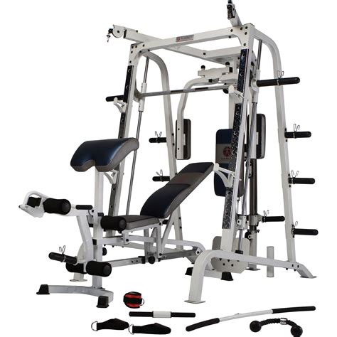Nautilus Weight Bench by Build Marcy Diamond Elite Smith Cage System Brand New