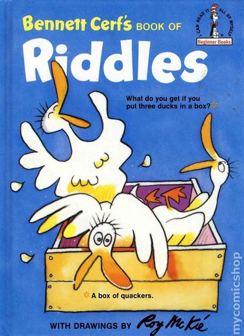 i a book of picture riddles answers cerf s riddles hc 1960 a dr seuss book comic books