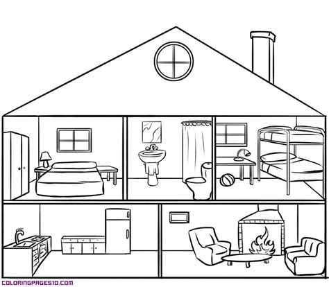 free coloring pages of to house room