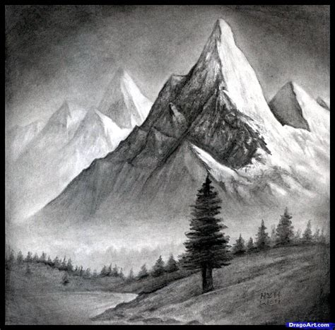 landscapes to draw how to draw a realistic landscape draw realistic