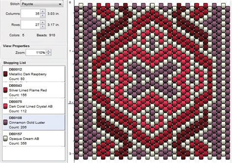 peyote stitch beading patterns imaginesque beading peyote stitch pattern 13
