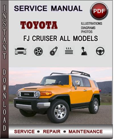 service manual service and repair manuals 2011 toyota fj cruiser security system service