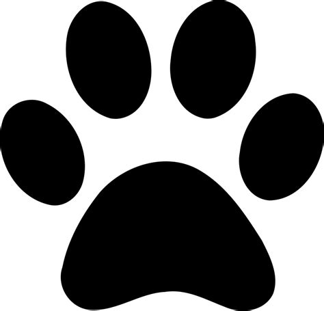 paw print panther paw prints clipart best