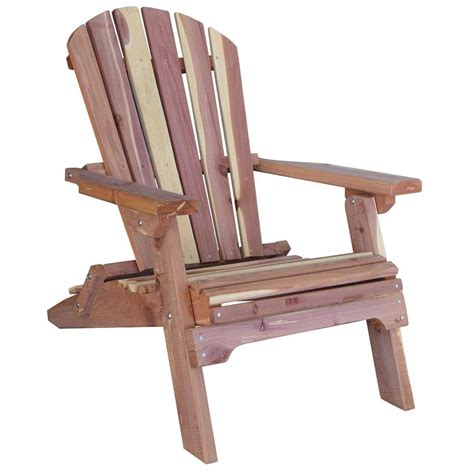 What Is An Adirondack Chair by Amerihome Cedar Patio Adirondack Chair 800890 The Home Depot