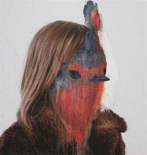 acrylic painting human acrylic animal portraits on photos by caron