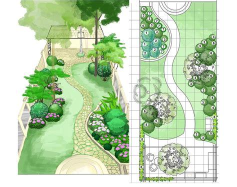 garden layout plans this back garden design plan