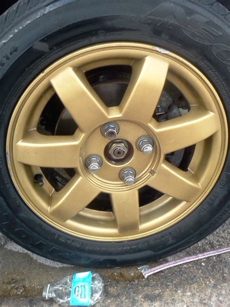 spray painting wheels 15inch rims
