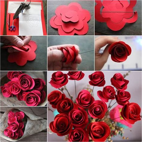 how to diy beautiful swirly paper roses paper roses
