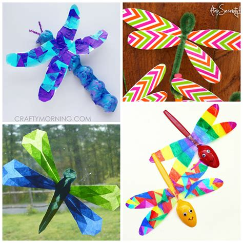 dragonfly paper craft colorful dragonfly craft ideas for crafty morning