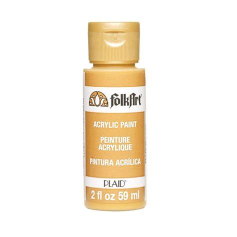 folk acrylic paint 2 oz folkart 2 oz yellow ochre acrylic craft paint k917 the